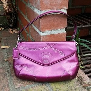 Coach Metallic Purple Mini Bag